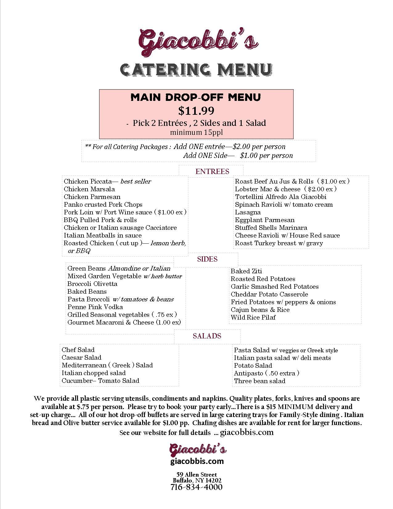 Catering Menu A2016